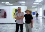 Dl.Tudor Zbârnea și dl Alexe Rău, Galeria Brâncuși, Bienala 2913, Chișinău