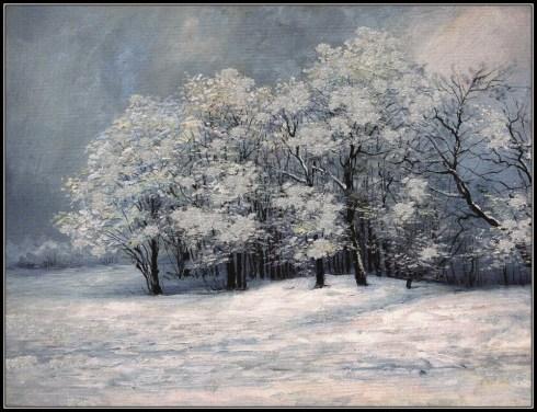 Mihai Olteanu, peisaj de iarnă 2
