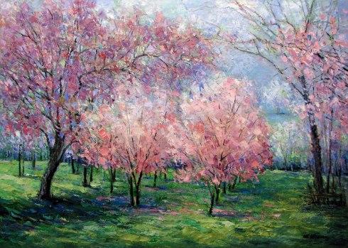 Peisaj de primăvară, Mihai Olteanu